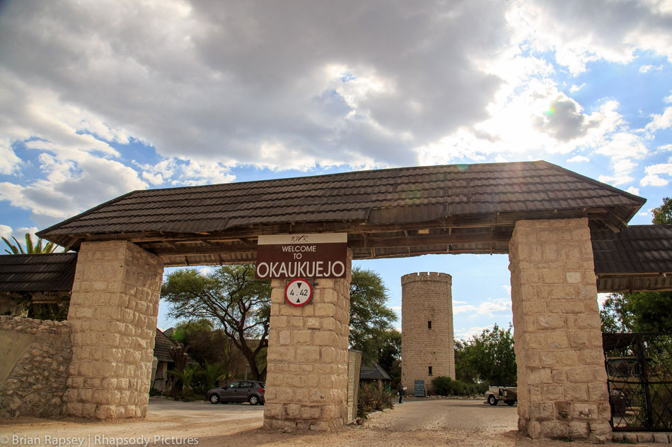 Entrance to Okaukuejo