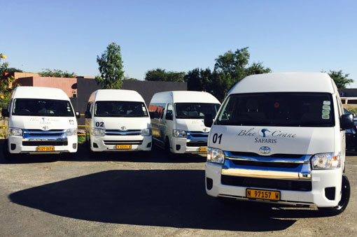Blue Crane Safari & transfers bus fleet